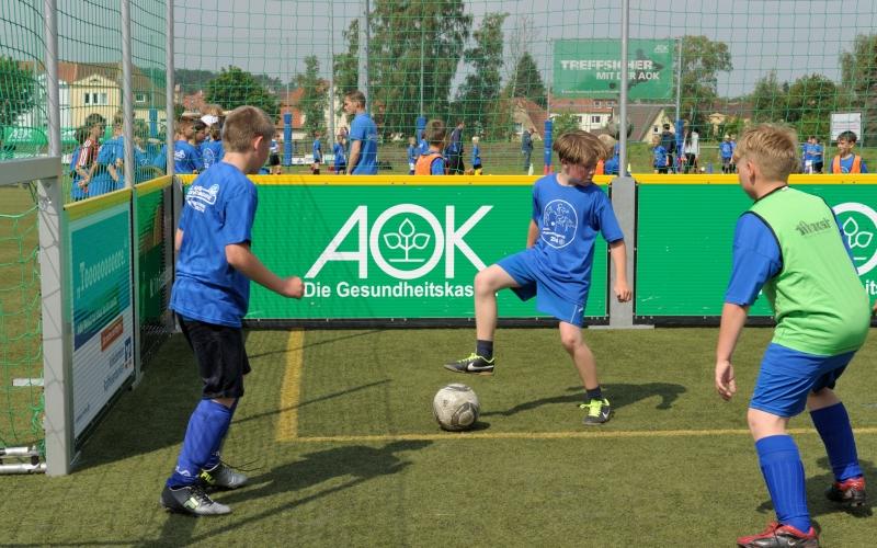 Infos: Kindermixturnier des AOK Fußballtages