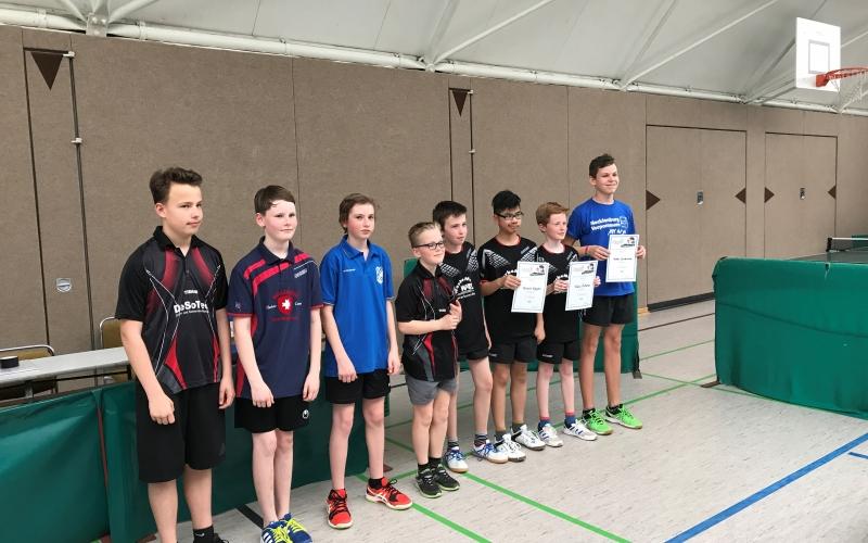 TT- Oskar und Dominik überzeugen beim Bezirksranglistenturnier